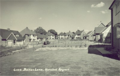 Horsted Keynes: Boxes Lane as built in 1955.