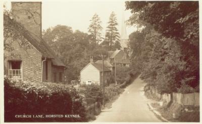Horsted Keynes: Church Lane in c.1920's?