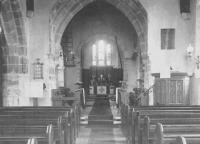 Unusual interior view of St. Giles Church, Horsted Keynes.