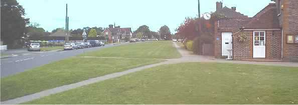 A composite picture from the West end of the village green.