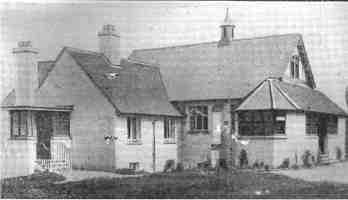 The Martindale Centre, Horsted Keynes as built in 1907. The design when built was hated by some (and still is by others!)