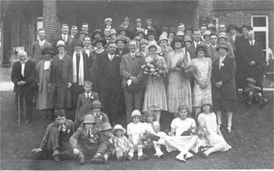 Horsted Keynes: The wedding of Mr. and Mrs. Tidey in 1926.