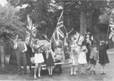 Horsted Keynes: The Awcock family on VE Day.